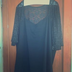 Black top lace sleeves